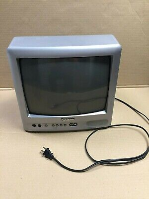 "Retro Tested Panasonic 13"" CRT Analog Television TV CT-13R38SG gaming inputs"