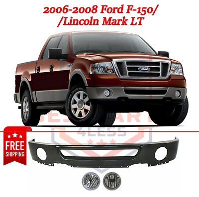 FO1002401 Lincoln Mark LT Crash Parts Plus Painted Black Steel Front Bumper for Ford F-150