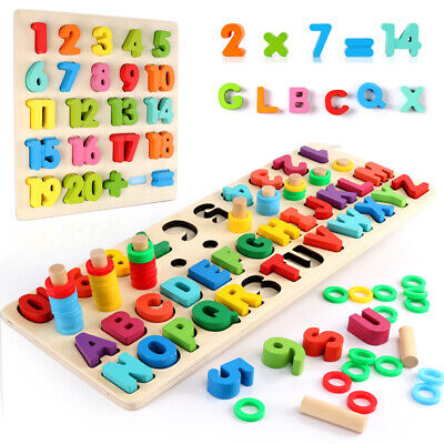 Children Wooden Toys Montessori Materials Learn Early Education Teaching Numbers