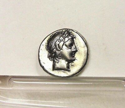 L. Censorinus Silver Denarius, Roman Republic Ancient Coin. Apollo Head 82 BC