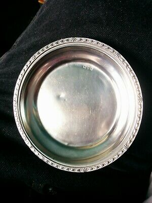 antique sterling silver pin tray. Chester 1918 SILD