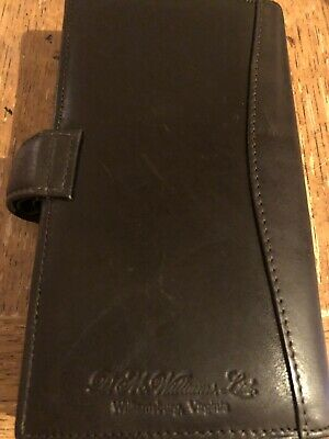 Preference D.M. Williams Leather Daily Planner & Address Book Only One Page Used