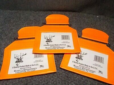 "Scaff/'s Enterprises Zip Seal License Holder W// 36/"" Lanyard 2016-NW1 Fishing//Hunt"