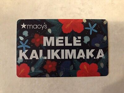 "NEW: 2019 Macy's Hibiscus ""MELE KALIKIMAKA"" HAWAII GIFT CARDS (no cash value)"