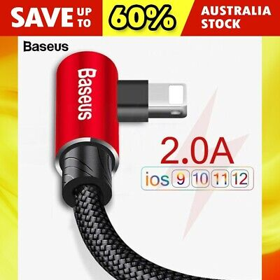 Baseus Apple Braided Lightning Fast Charging Sync Data Cable For iPhone 11 XS XR