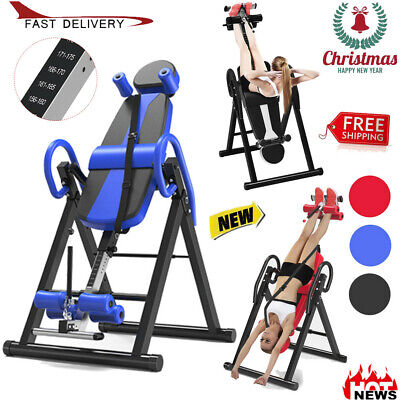 🎄Inversion Table Fitness Chiropractic Back Stretcher Heavy Duty Reflexology Pad