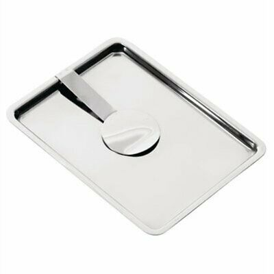Olympia Curved Stainless Steel Tip Tray With Bill Clip F979 [KOO2]