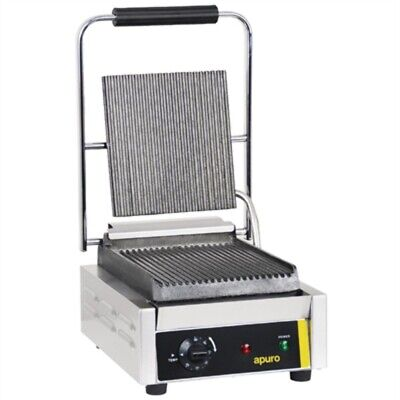 Apuro Bistro Single Contact Grill Ribbed Plates CD474-A [HN1D]