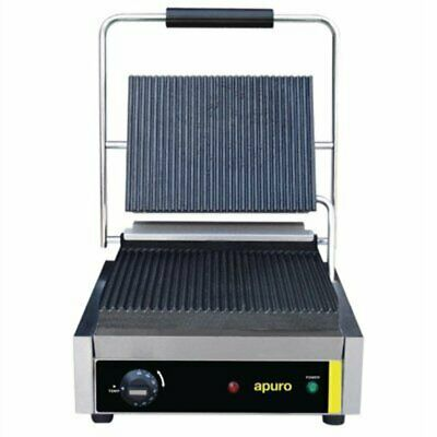 Apuro Bistro Contact Grill Ribbed Plates DM903-A [42V9]