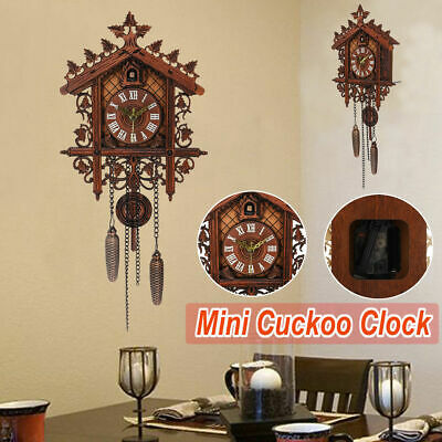 Vintage Europea Cuckoo Hanging Clock House Wall Clock Art Clock Home Decor