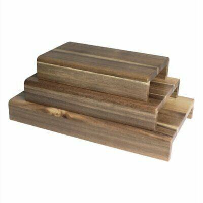 Olympia FSC Acacia Wood Riser Set (Pack of 3) CP697 [KYZX]