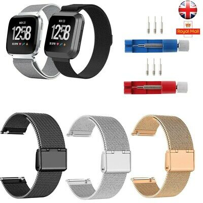 Straps For Fitbit Versa Milanese Replacement Wa tch Bracelet Strap Bands Loop UK