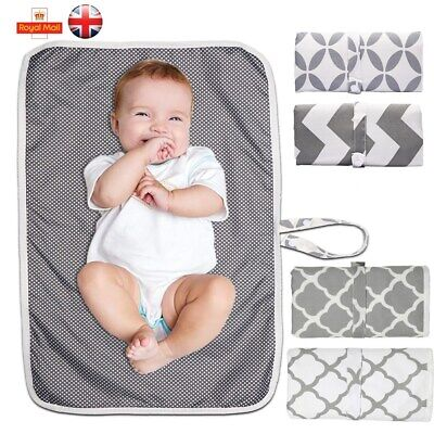 Portable Baby Nappy Diaper Changing Mat Pad Foldable Washable Waterproof Travel