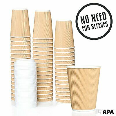 16oz Kraft Ripple Cup with Lids and Stirrers