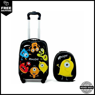 2 pcs Kids Luggage Set 12 Backpack And 16 Rolling Suitcase