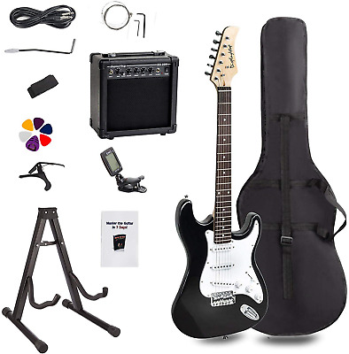Display4top Full-Size Electric Guitar Most complete Beginner Super Kit Package