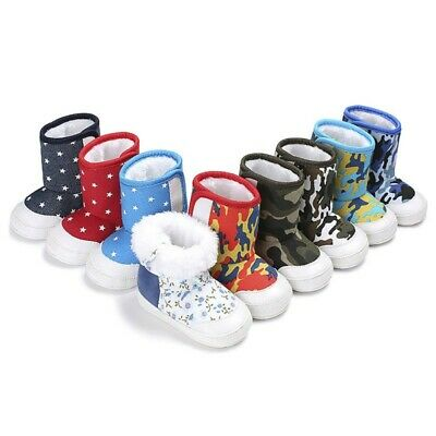 Kids Boys Girls Winter Snow Boots Casual Sports Martin Shoes Cotton Booties Warm