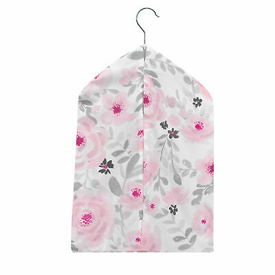 Bedtime Originals Blossom Pink/Gray Watercolor Floral Diaper Stacker