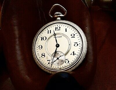 Vintage Waltham Open Face Size 16s 7 Jewels Pocket Watch, Excellent Time Keeper.