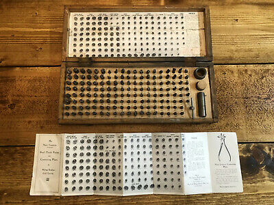 Antique Dental Steel Tooth Forms Complete Set Early 1900's Dentistry Medical
