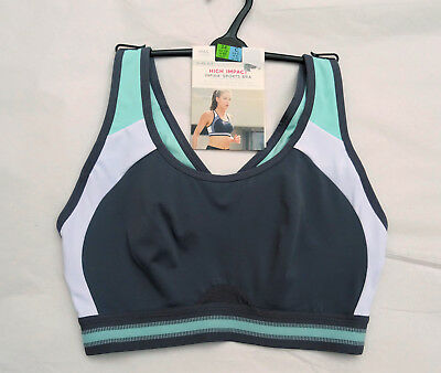 M & S Sports Bra Non Wired High Impact Infin 8 Mint Mix  Marks & Spencer