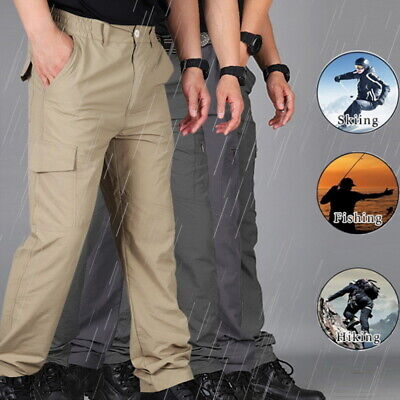 Soldier Tactical Waterproof Pants Men Cargo Combat Hiking Outdoor Trousers