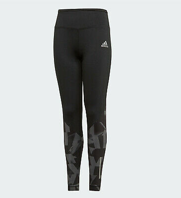 GIRLS ADIDAS TRAINING LEGGINGS BLACK CLIMALITE ages 11- 14 kids NEW LIMITED QTY