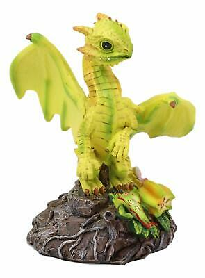 Ebros Starfruit Green Thumb Dragon Statue by Stanley Morrison Fantasy Figurine