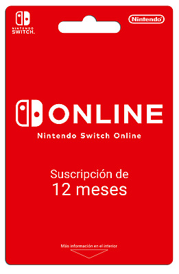 Nintendo Switch Online 12 Meses/Month Suscripcion No Codigo/No Code