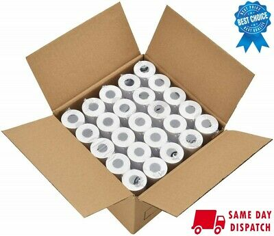 100 Rolls 57x35 Thermal Paper Till Roll Compatible With Credit Card Machines