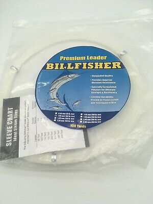 NEW Billfisher Mono Leader Coil 250Lb 100Yds Clear 1.8mm LC100-250