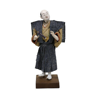 Antique Japanese Isho-Ningyo Samurai Doll