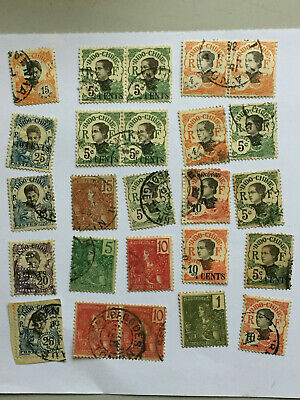 Lot timbres Indochine Française FRENCH INDO-CHINA Stamps