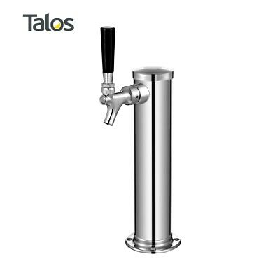 "Talos Draft Beer Kegerator Tower, Stainless Steel Beer, 3"" Column (1 Tap/Faucet)"