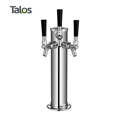 "Talos Draft Beer Kegerator Tower, Stainless Steel Beer, 3"" Column (3 Tap/Faucet)"