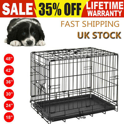 Dog Cage Crate Puppy Small Medium Large Pet Carrier Training Folding Metal Cage▲