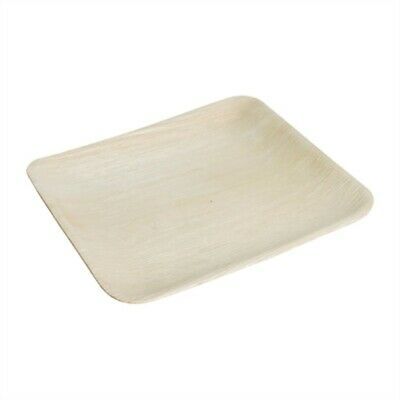 Fiesta Green Biodegradable Palm Leaf Square Plates 200mm (Pack of 100) DK376 [69