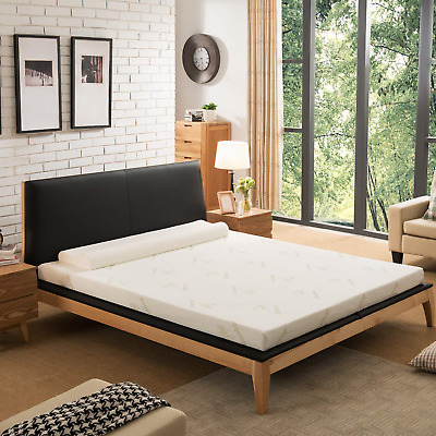 NOFFA Memory Foam Mattress Topper with Cover, Includes Ultra Soft Removable with