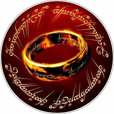 Lord of the Rings One Ring To Rule Them All Vinyl Sticker / Printed Vinyl Decal