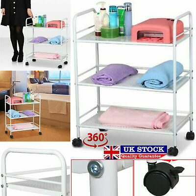 3 Shelf Large Salon Beauty Trolley Cart Spa Storage Dentist Wax Treatments Home