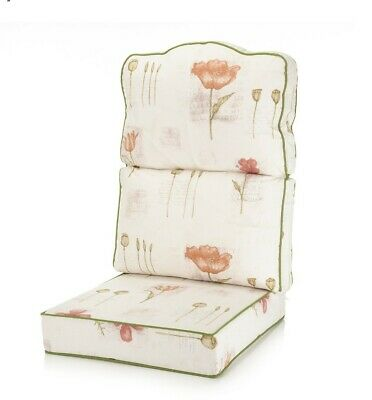 Alfresia High Back Conservatory Furniture Cushion Poppies Stone