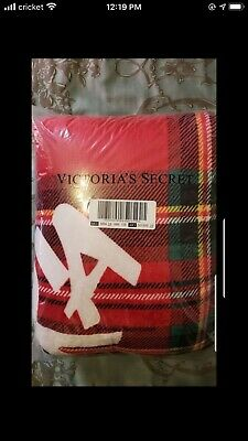 Victorias Secret Christmas Sherpa Blanket Large Plaid *LIMITED Edition *