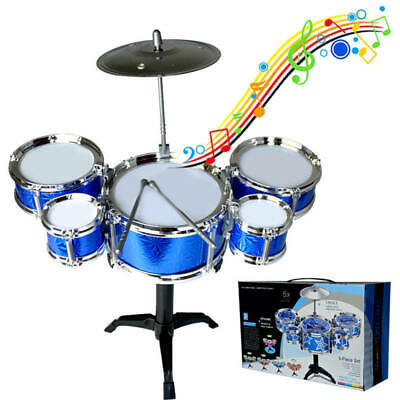 Boy Girl Kids Percussion Musical Instrument Jazz Drum Set Toys Music Band Player