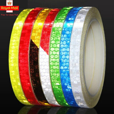 Usun 8M Reflective Tape Fluorescent Bike Bicycle Car Safety Reflective Stickers