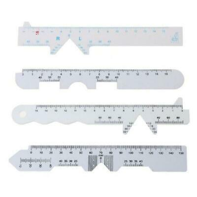 4 Types Plastic White Straight Edge PD Ruler Pupillary Distance Rulers 4pcs/Set,