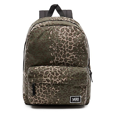 Vans Realm Classic Backpack 22L Leopard Camo / Green Rucksack Day pack