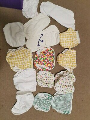 24 x Bumboo Bamboo Nappies, 10x Nappy covers, 4 nappies with inserts - *NEW*