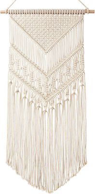 Mkouo Macrame Wall Hanging Tapestry Wall Decor BOHO Chic Handmade Cotton Woven x