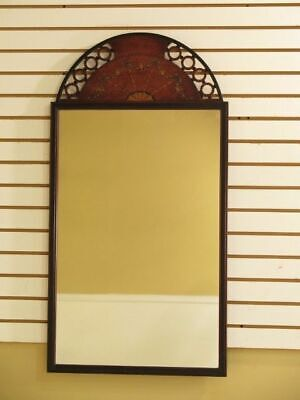F28306: Vintage Adam Style Dome Top Paint Decorated Mirror
