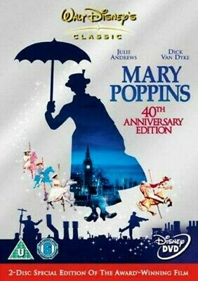 "Mary Poppins (DVD-2005, 2-Disc 40th Anniversary Edition) Region 2. ""CLASSIC!""***"